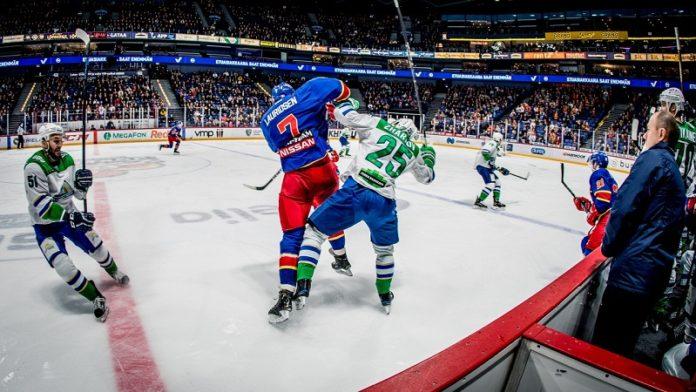 Две шайбы Сошникова принесли «Салавату Юлаеву» победу над «Витязем» вматче КХЛ