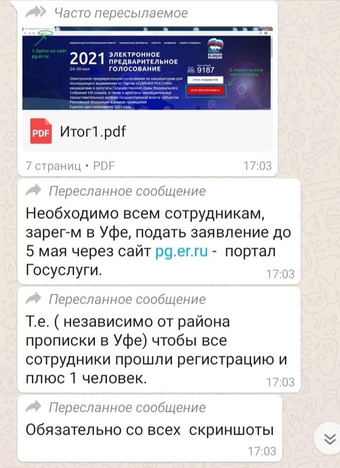 Жители Уфы пожаловались на принудительное участие в голосовании